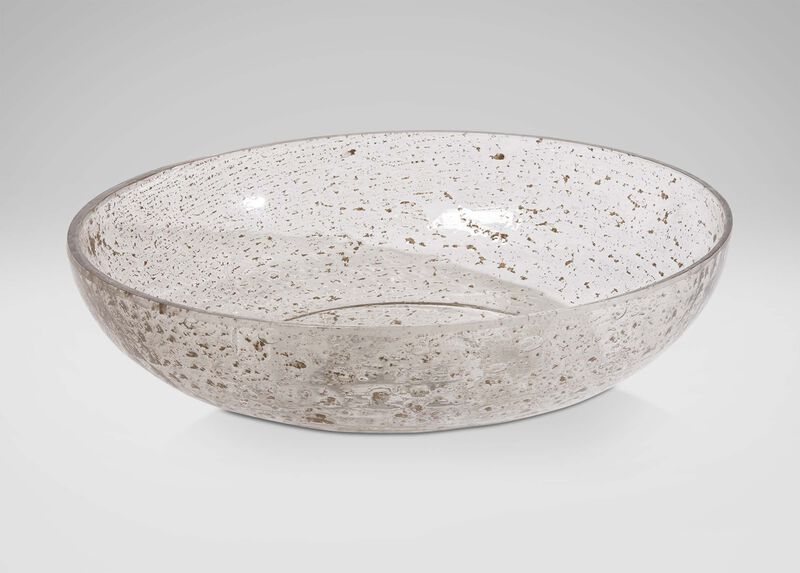 Pitted Glass Bowl at Ethan Allen in Ormond Beach, FL | Tuggl