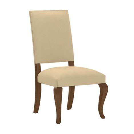 Hadley Cabriole-Leg Leather Side Chair ,  , large