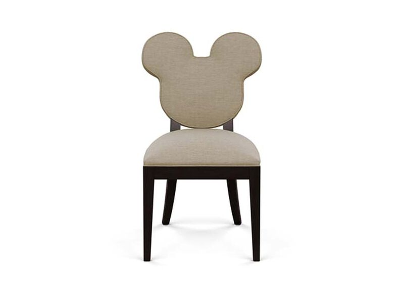 Mickey Mouse Everywhere Chair , Zest Linen (D1031), strie texture , large_gray