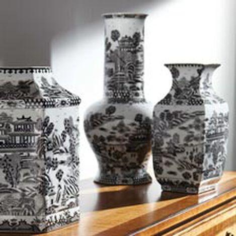 Black and White Square Vase ,  , hover_image