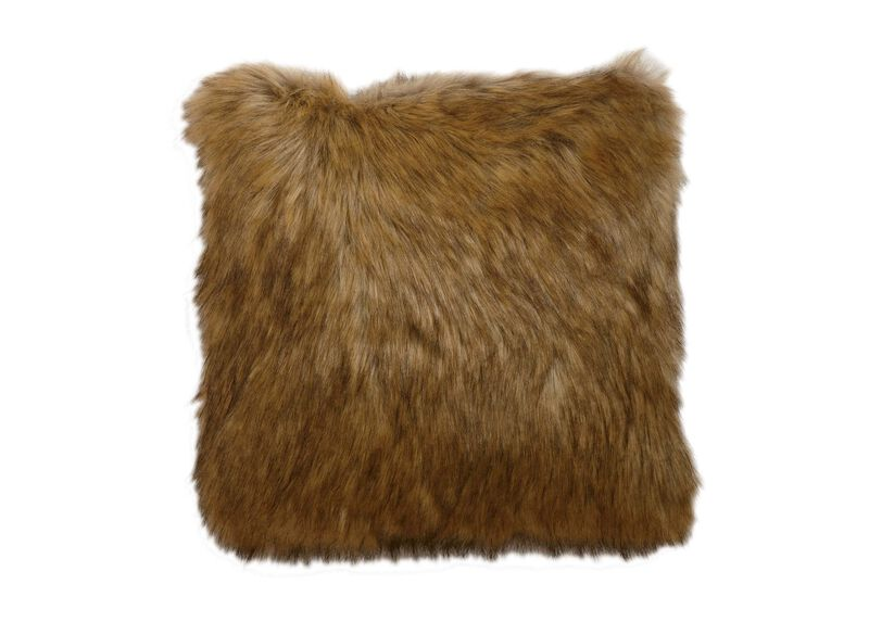 Tipped Fox Faux Fur Pillow ,  , large_gray