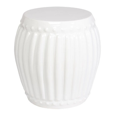 White Drum Table ,  , large