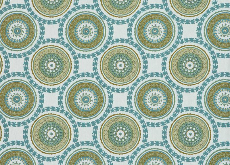 Suzani Aqua Fabric ,  , large_gray
