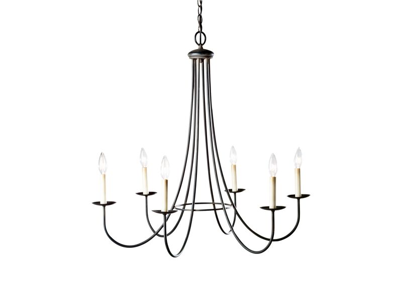 Six Light Iron Chandelier ,  , large_gray
