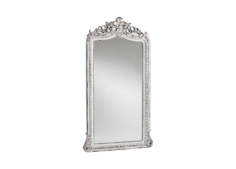 Aged White Luxe Floor Mirror ,  , large_gray