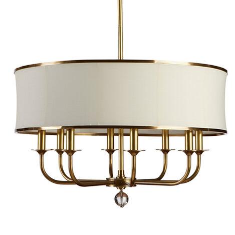Zoe Eight-Light Brass Chandelier ,  , large