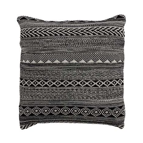 Black and White Graphic Knit Pillow ,  , large