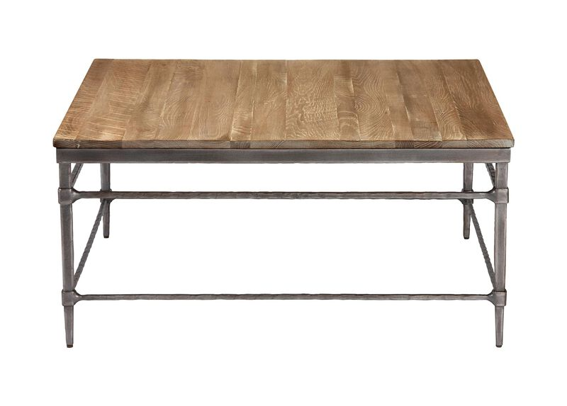 Vida Square Wood-Top Coffee Table ,  , large_gray