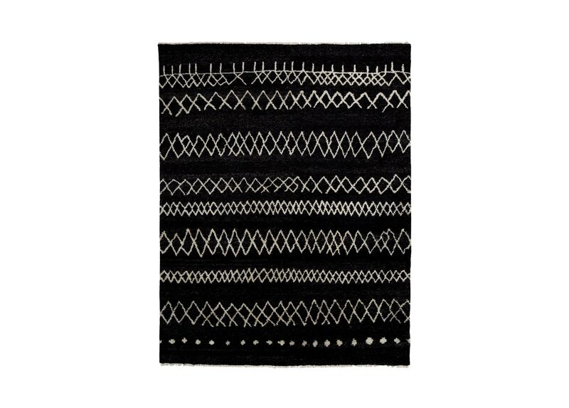 Intrinsik Rug, Black/Ivory ,  , large_gray