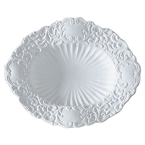 Small White Baroque Wall Plate ,  , large