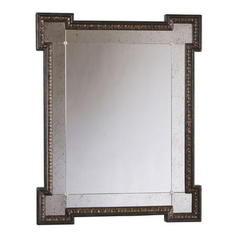 Black Crackle Turret Mirror ,  , large