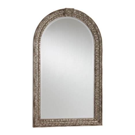 Antique Silver Arched Mirror ,  , large