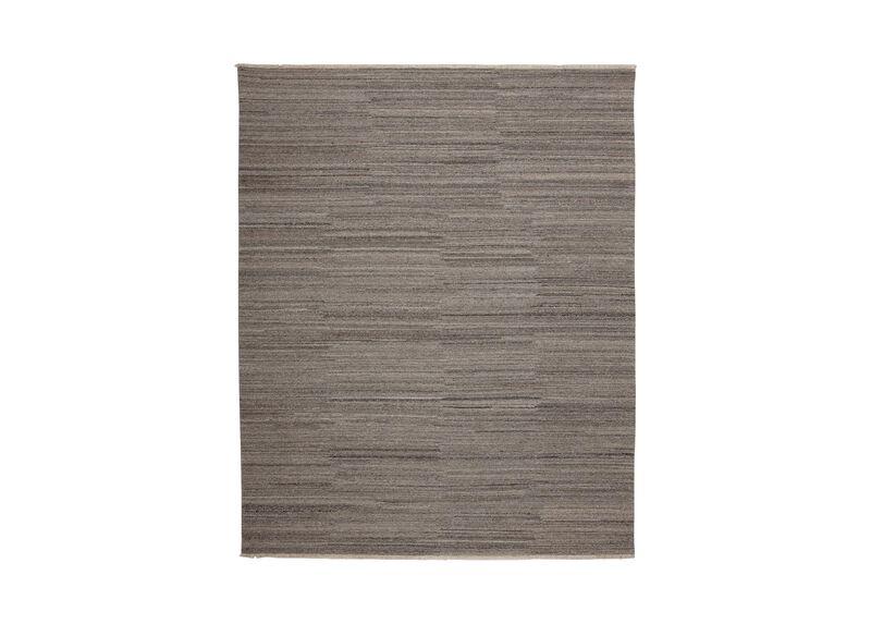 Wool Soumak Rug, Light Gray ,  , large_gray