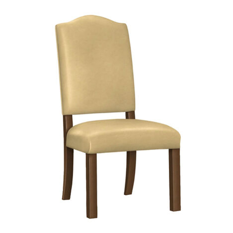 Hadley Parson-Leg Leather Side Chair ,  , large