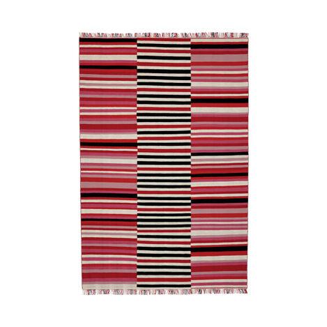 Tricolor Striped Rug ,  , large