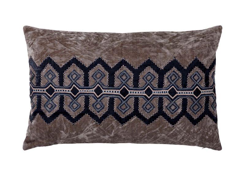 Embellished Velvet Pillow ,  , large_gray