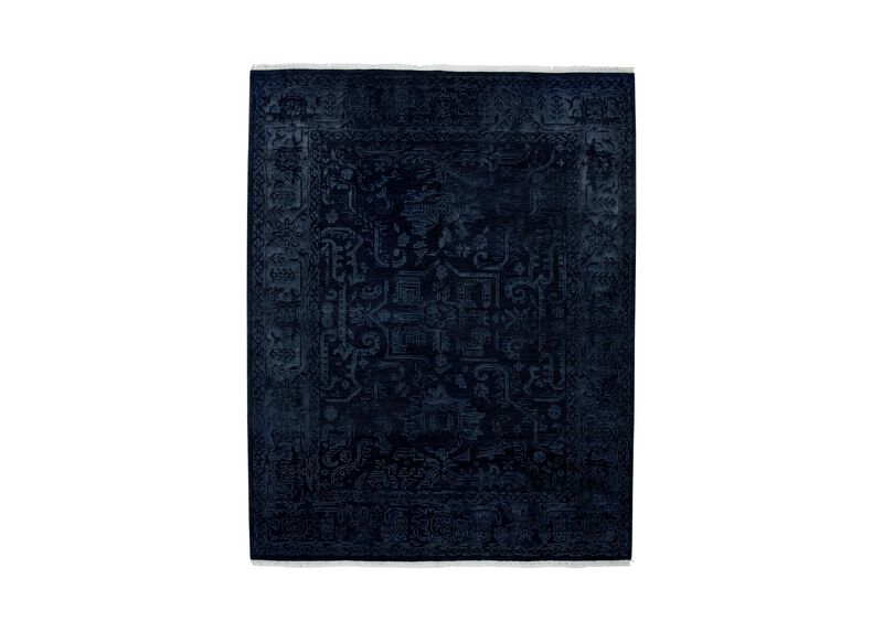 Heriz Deconstructed Rug, Navy ,  , large_gray