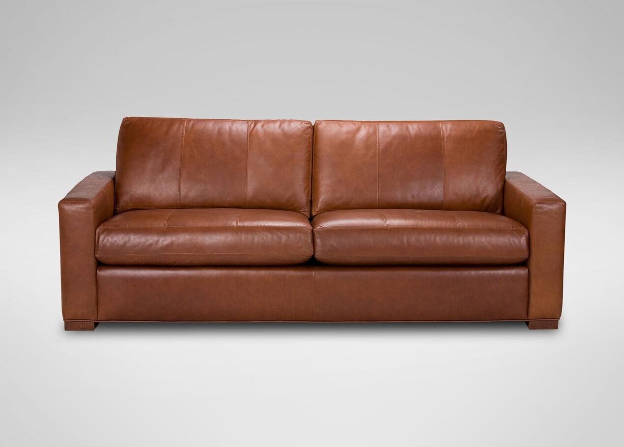 Hudson leather sofa sofas loveseats for Sofa hudson