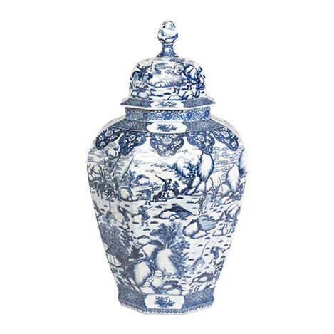 Extra Large Blue and White Ginger Jar ,  , large