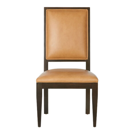 Hayden Tapered-Leg Leather Side Chair ,  , large