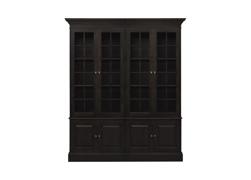 Villa Double Library Bookcase ,  , large_gray