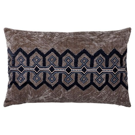 Embellished Velvet Pillow ,  , large
