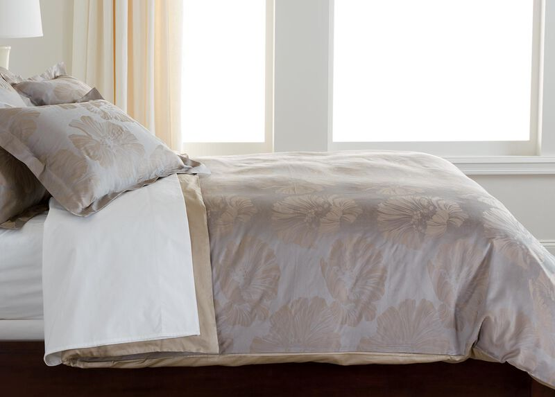 Susana Taupe Floral Duvet Cover ,  , large_gray