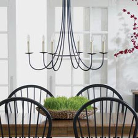 Six Light Iron Chandelier ,  , hover_image