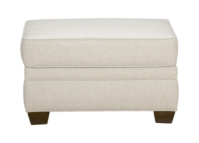 Bennett Ottoman, Quick Ship , Hailey Ivory (Q1032), solid texture , large_gray