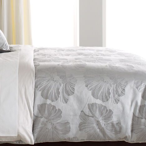 Susana Gray Floral Duvet Cover ,  , large