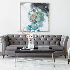 large shelton leather sofa quick ship hoverimage