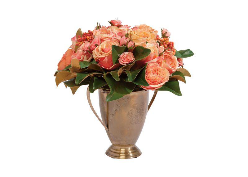 Rose and Magnolia Arrangement ,  , large_gray