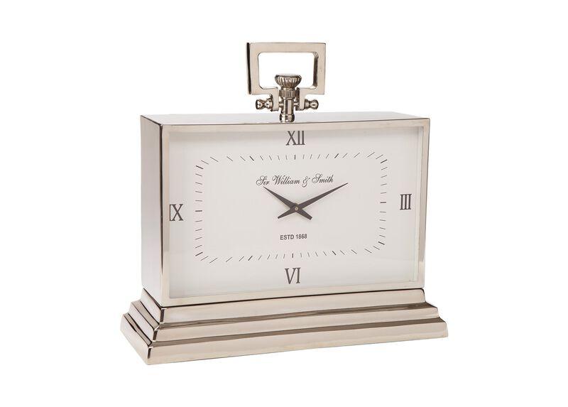 Large Nickel Square Clock ,  , large_gray