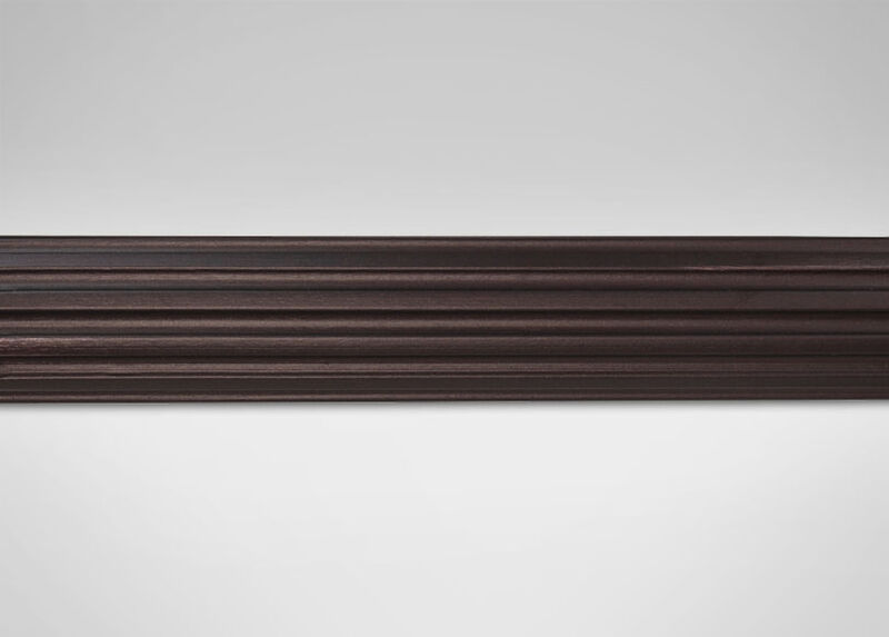 "2 1/4"" Fluted Wood Pole, Oil-Rubbed Bronze ,  , large_gray"