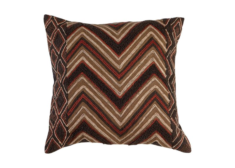 Modern Tribal Chevron Pillow ,  , large_gray
