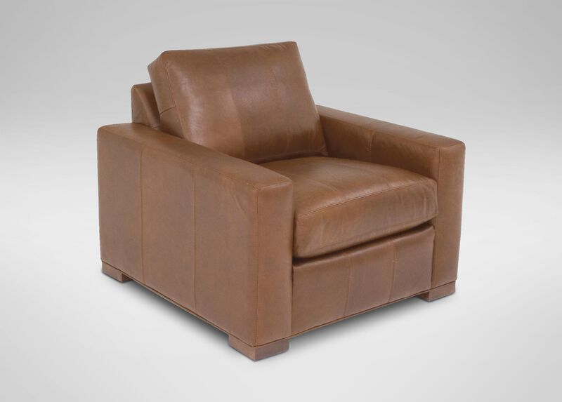Hudson Leather Chair ,  , large_gray