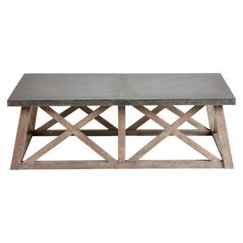 Charming Bruckner Metal Top Coffee Table , , Large ...