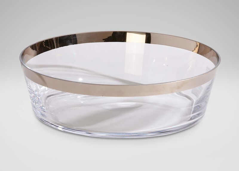 Platinum-Banded Low Bowl ,  , large_gray