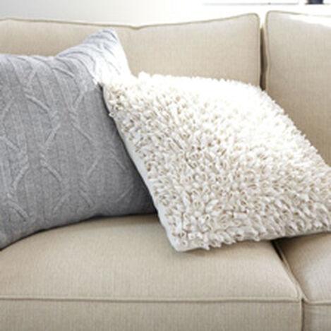 Beige Fleurette Pillow ,  , hover_image