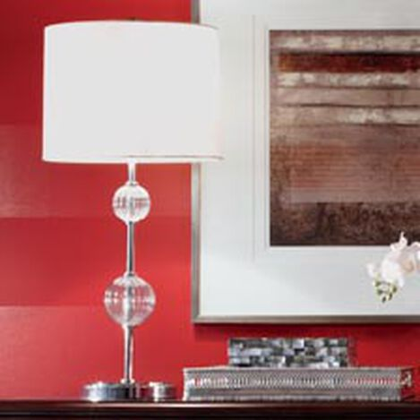 Ribbed Glass Ball Table Lamp ,  , hover_image