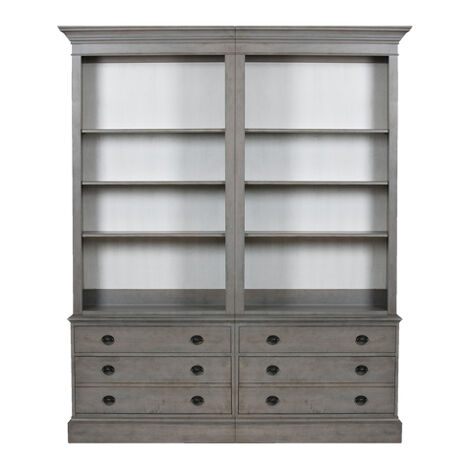 Villa Double File Bookcase , , large ... - Shop Office Storage & Display Office Cabinets Ethan Allen