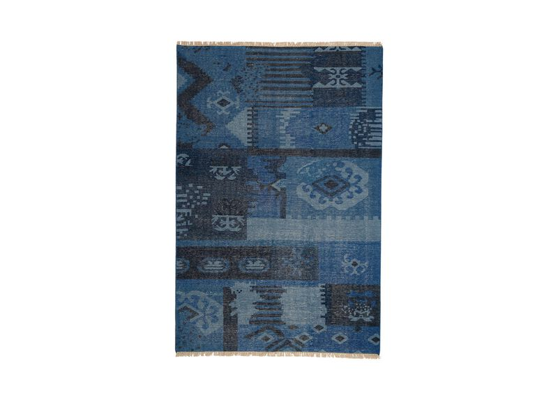 Patchwork Rug, Blue ,  , large_gray