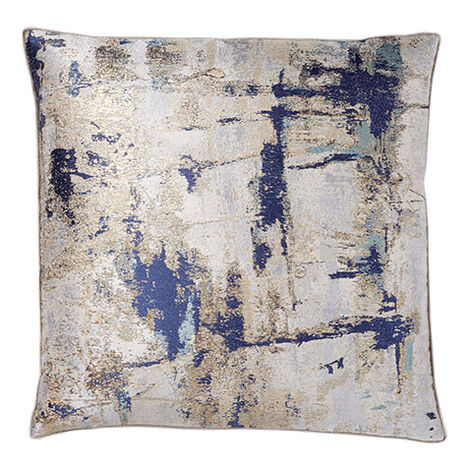 Melange Pillow, Navy/Gold ,  , large