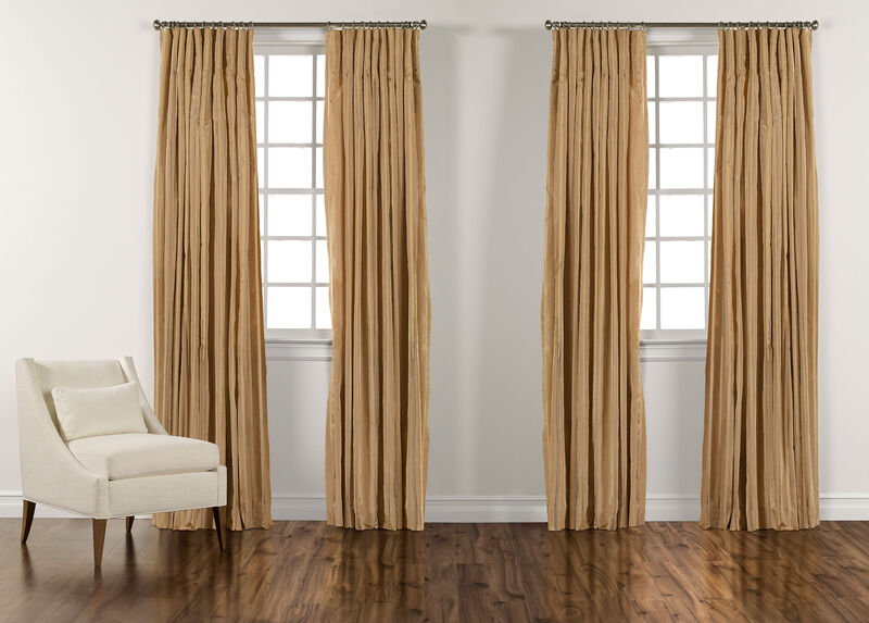 "100"" Amber and Gold Taffeta Stripe Inverted Pleat Panel ,  , large_gray"