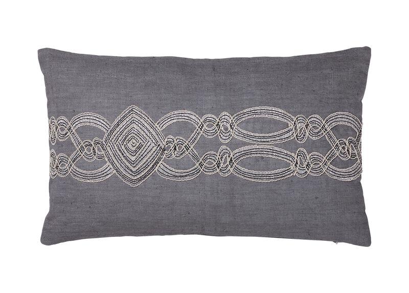 Embellished Rectangular Pillow ,  , large_gray
