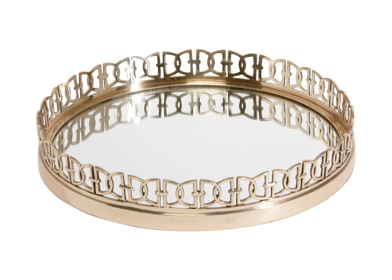 Gold Oval Link Tray ,  , large_gray