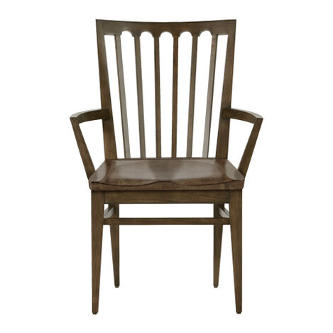 Benham Wood-Seat Armchair ,  , large