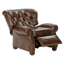 ... large Cromwell Leather Recliner Omni/Tobacco   hover_image  sc 1 st  Ethan Allen & Shop Recliners | Leather and Fabric Recliner Chairs | Ethan Allen islam-shia.org
