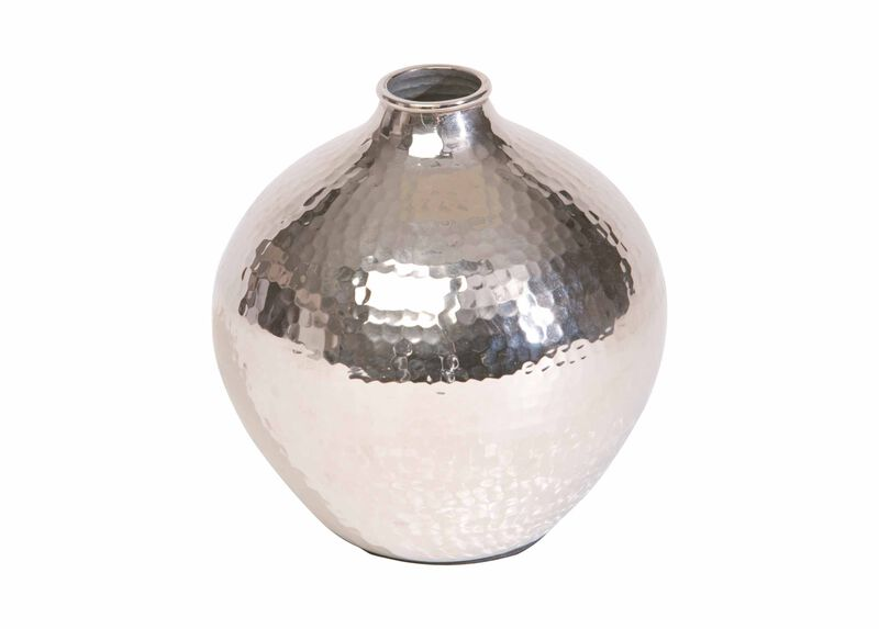 Nickel Hammered Bulb Vase at Ethan Allen in Ormond Beach, FL | Tuggl