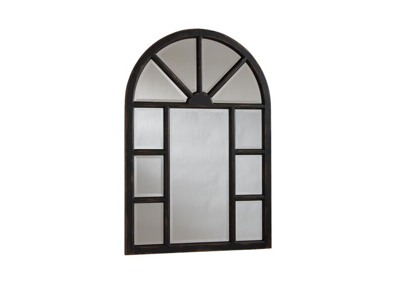 Antique Black Cypress Wall Mirror ,  , large_gray